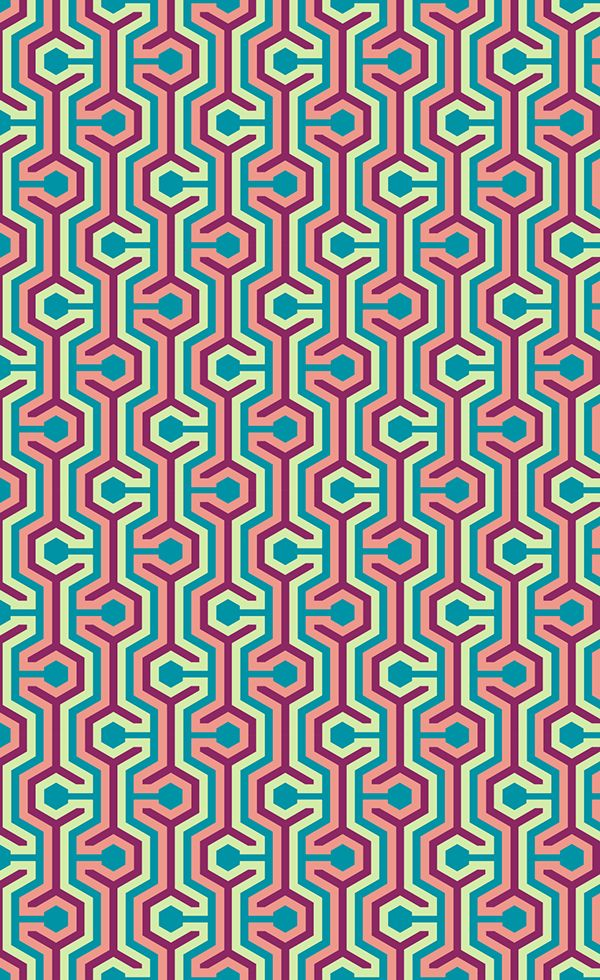 Meandres Pattern By Geraldesign Via Behance Pattern Graphic