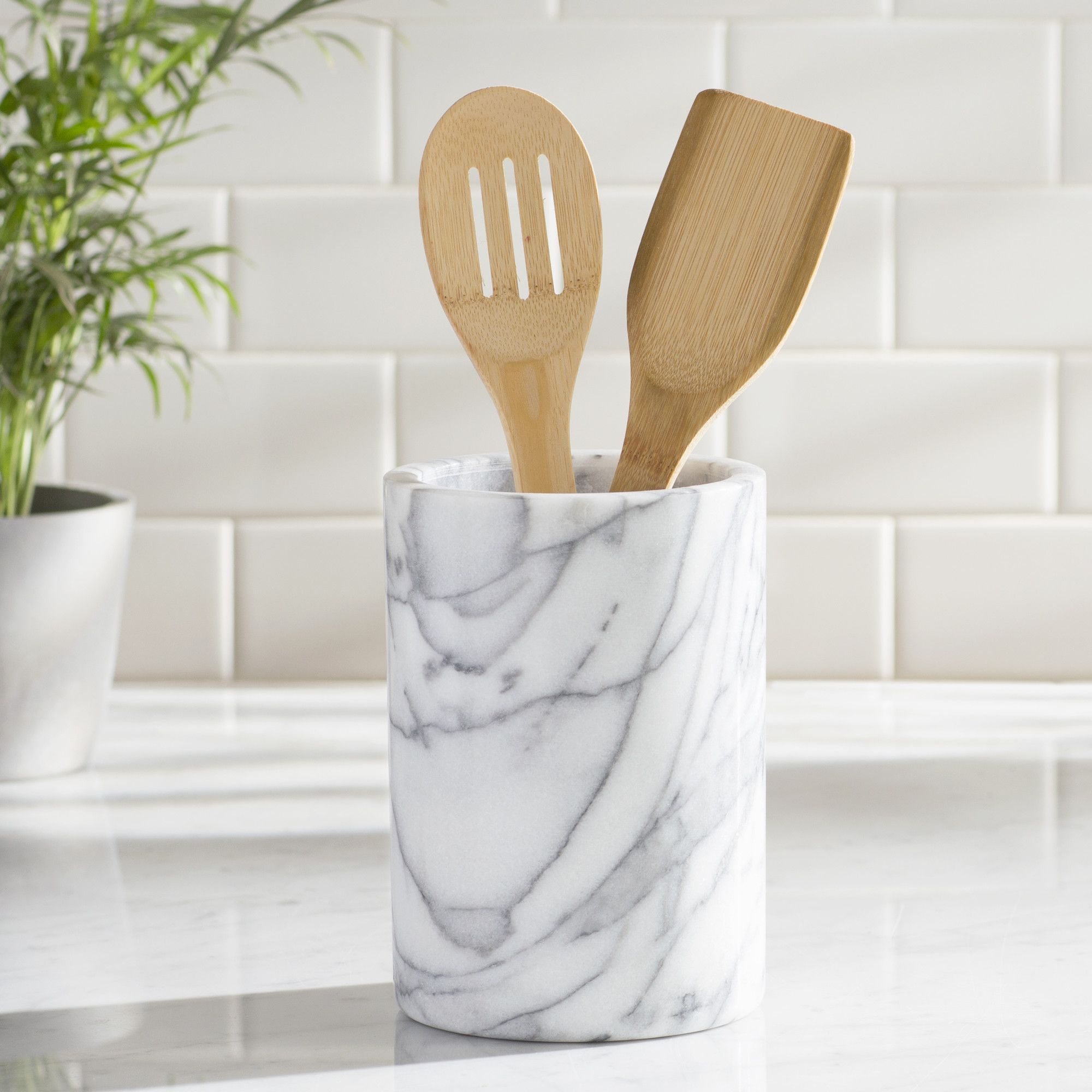 Belani Marble Utensil Holder | Utensils and Products