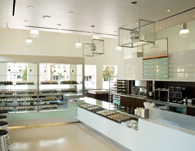 Via Bklyn Contessa Modern Bakery With A Retro Palette Bakery Store Pastry Shop Interior Cake Shop Design
