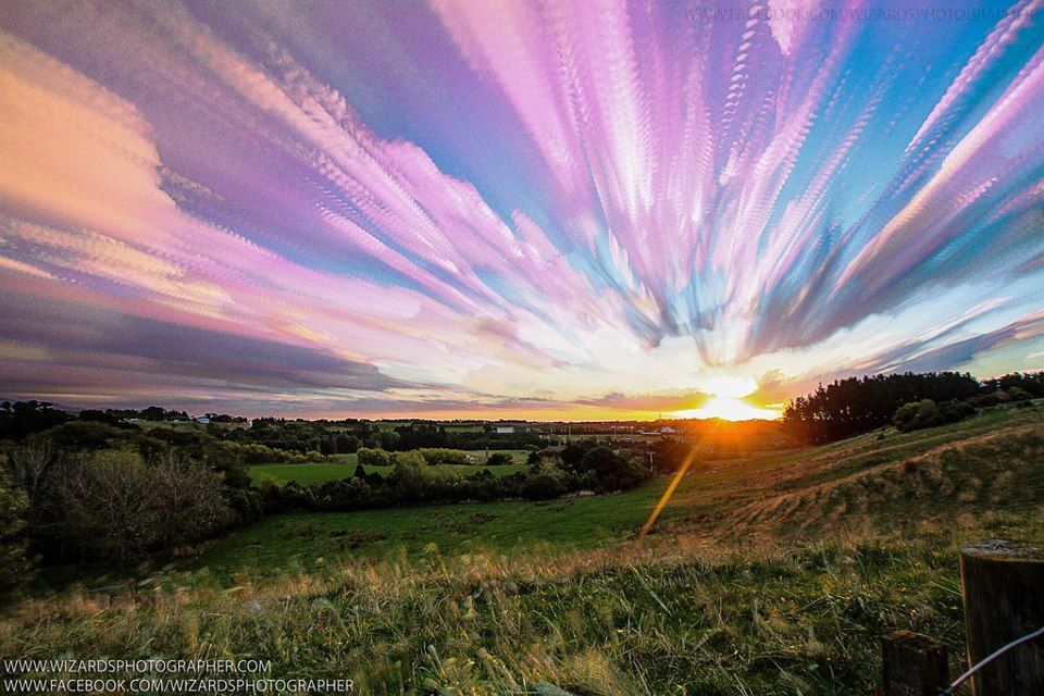 Beautiful sunset over Palmerston North, New Zealand Simply