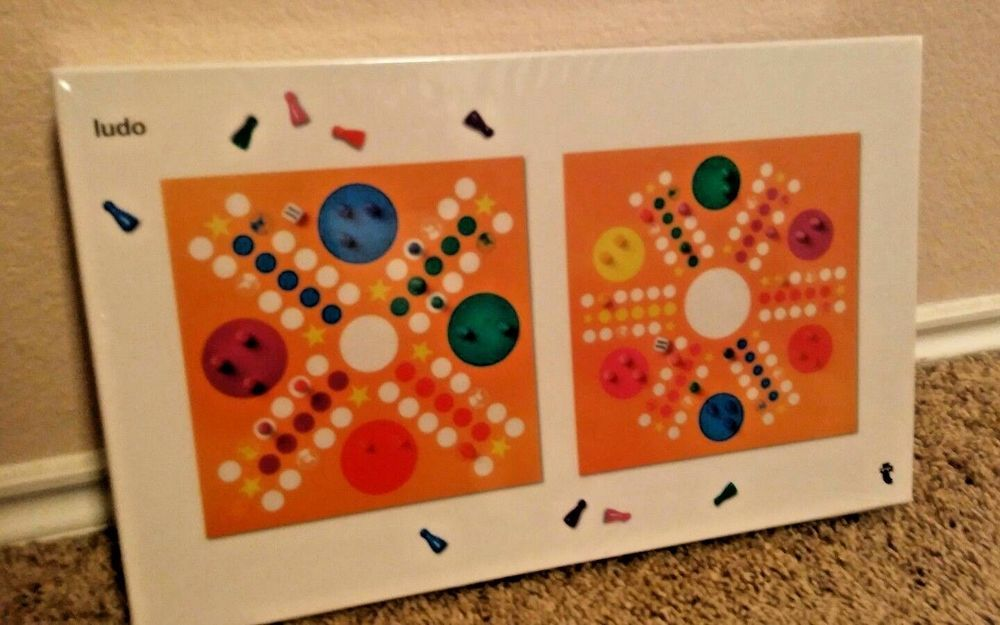 Ludo Parcheesi Board Game Two Sides for 4 and 6 Players