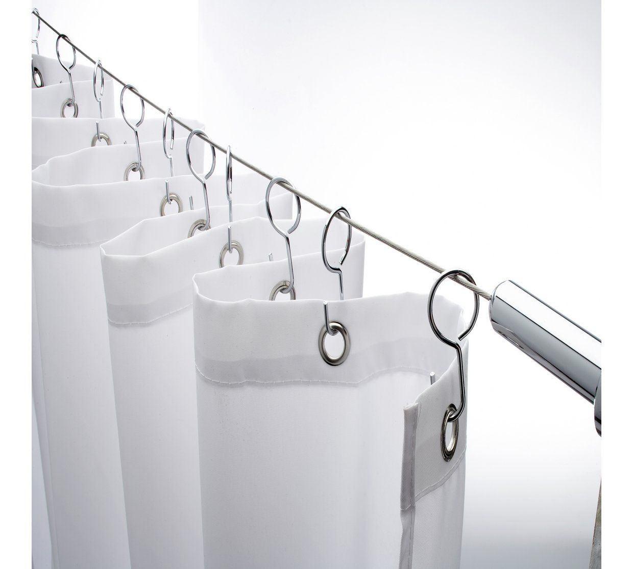 Buy Croydex Stainless Steel Shower Curtain Tension Cable Shower