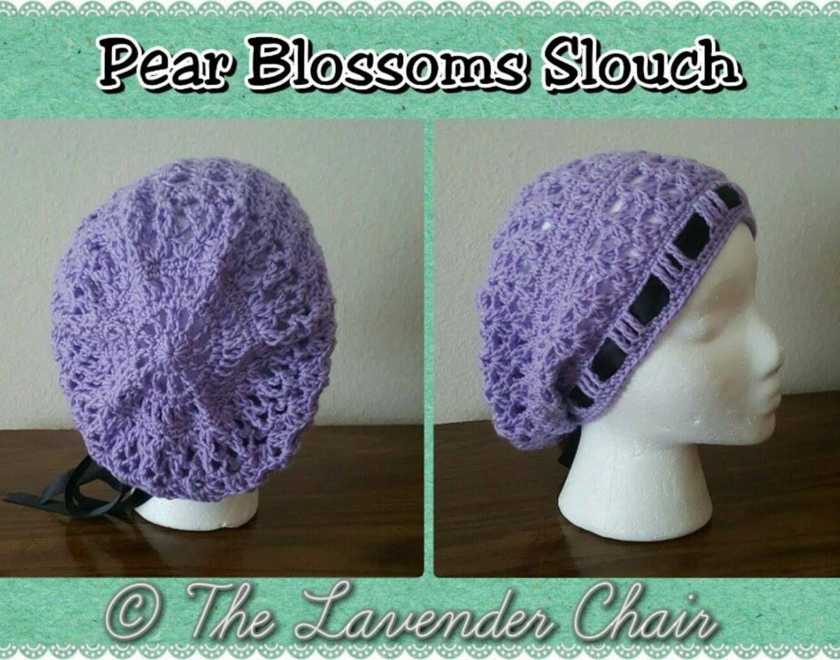 Pear Blossoms Slouch Crochet Pattern | Pinterest