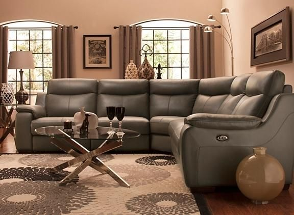 Leather Power Reclining Sectional Sofa | Sectional Sofas | Raymour And  Flanigan Furniture