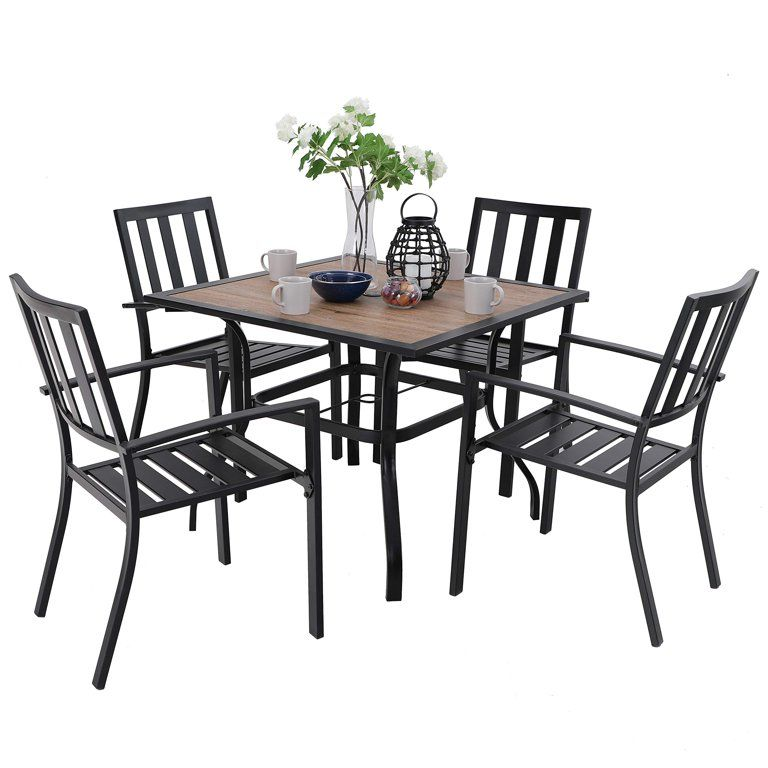 MF Studio 5PCS Outdoor Patio Dining Set Outdoor Furniture