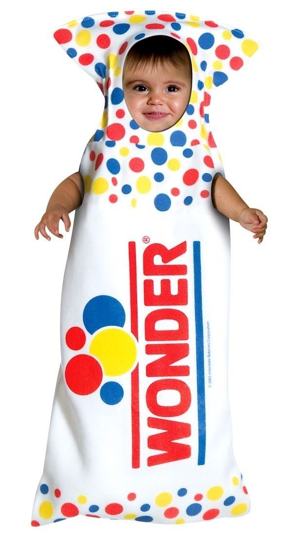3ee48d957 Baby Wonder Bread Halloween Costume Bunting Boy Girl Newborn Funny ...