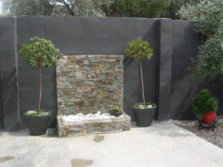 Resultado de imagen para fuentes para jardin de pared - Fuentes para patios pequenos ...