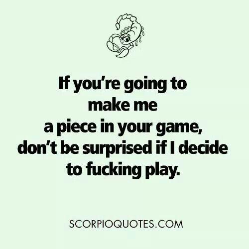 Scorpio man playing games