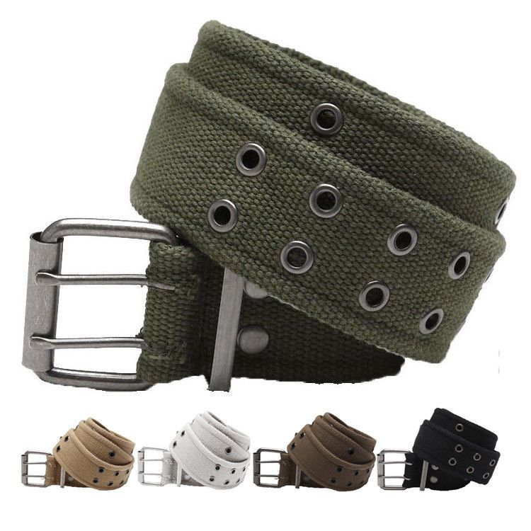 $11 99 - Military Double Prong Canvas Belt, Heavy Duty Army