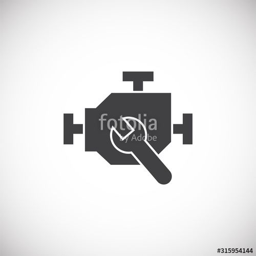 Motor related icon on background for graphic and web design Creative illustration concept symbol for web or mobile app