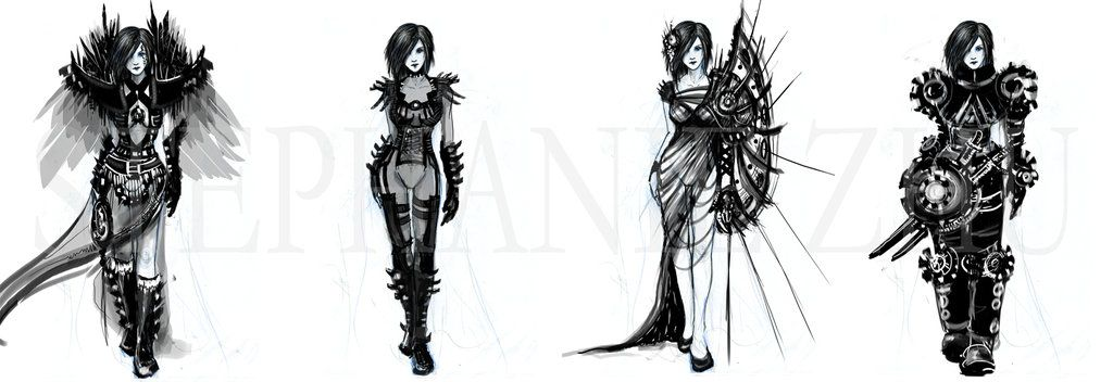 Pin by 7nexx on drawing | Female armor, Sketches, Drawings