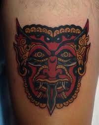 Risultati immagini per old school demons tattoo