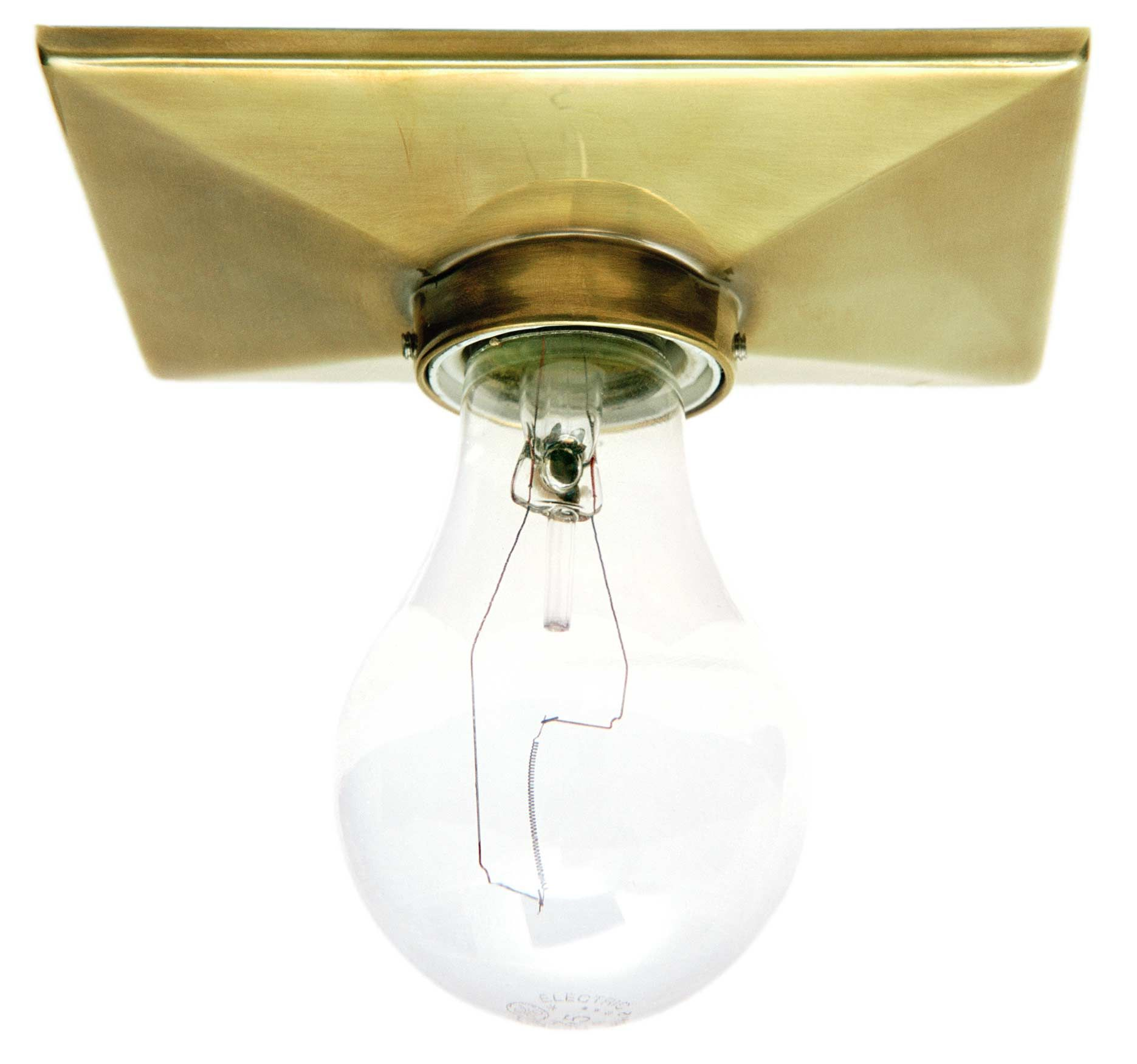 The Escutcheon Has A Rectangular Metal Plate And A Porcelain Socket Rectangular Light Fixture Light Fixtures Light