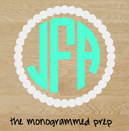 Circle Monogram Car Decal Sticker By TheMonogrammedPrep On Etsy - Monogram car decal sticker