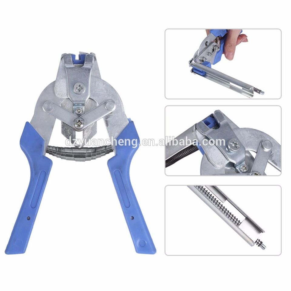 Hog Ring Pliers Tools 600pcs M Clips Staples Bird Chicken Mesh Cage Plier Clipper Wire Fencing Pigeon Cage Reptile Incubator Tools