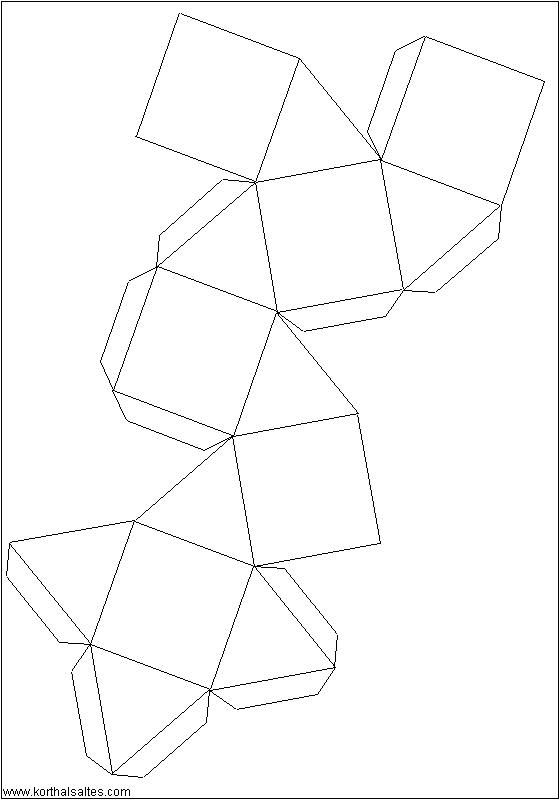 Recortables de figuras geométricas| Cubooctaedro | figuras ...