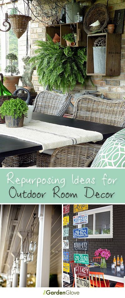 Repurposing Ideas for Outdoor Room Decor!