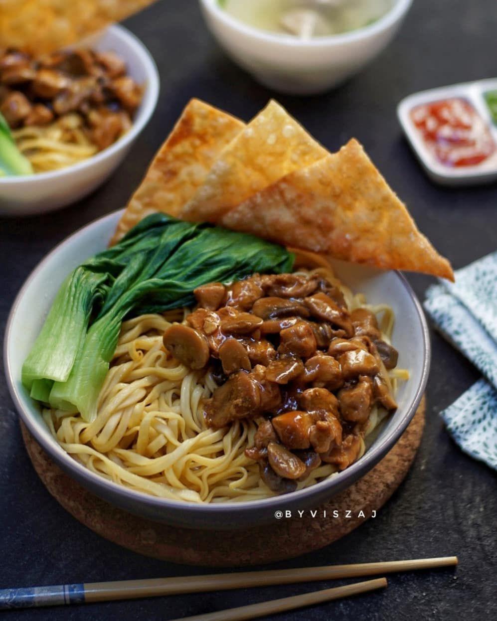 Cara Membuat Mie Ayam Instagram Resep Ayam Resep Masakan Cina Makanan Ringan Sehat