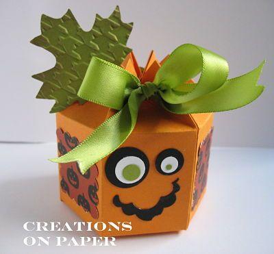 Halloween box using stampin up big shot milk carton die cut - really cute