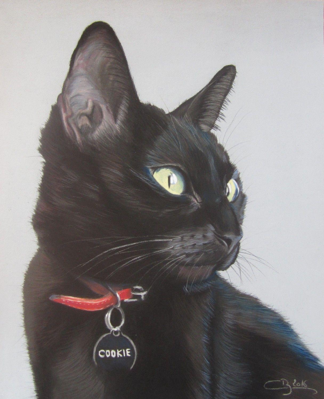 Les pastels de chats dessin chats pinterest chat - Dessin chat noir ...