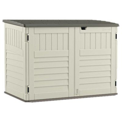 Storage · 5 ft. 11 in. W x 3 ft. 8 in. D Plastic  sc 1 st  Pinterest & 5 ft. 11 in. W x 3 ft. 8 in. D Plastic Horizontal Garbage Shed ...