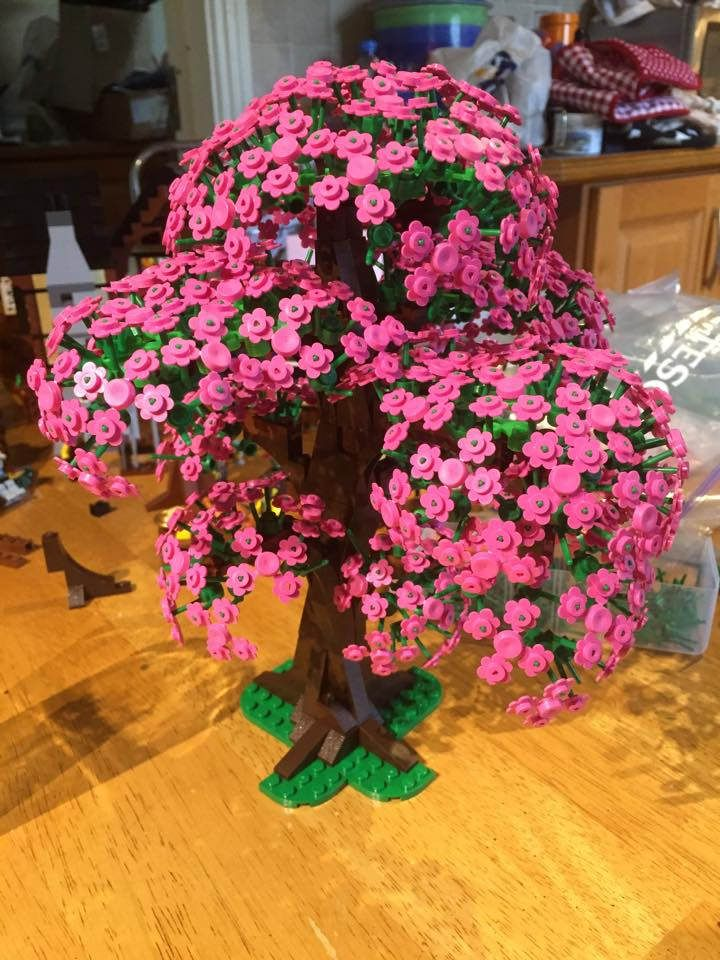 Https Flic Kr P Rwzqjl Lego Tree In Blossom Lego Tree I Ve Been Working On Using Flower Sprues As Blossoms I T Lego Tree Lego Pictures Lego Design Ideas