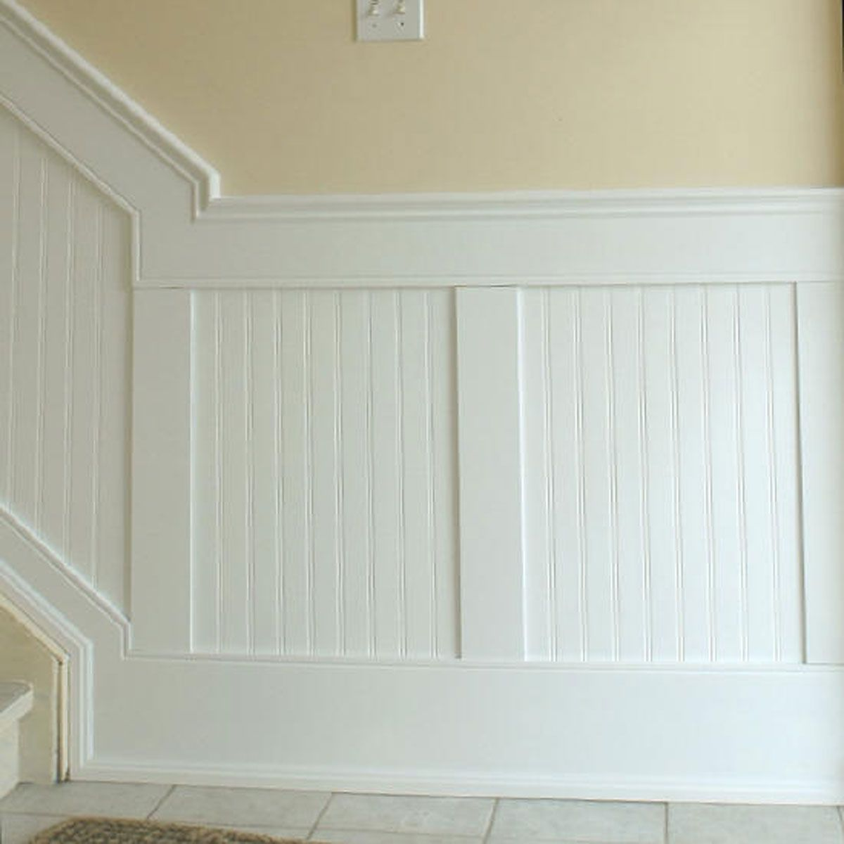 Beadboard panel wainscoting kit for the home pinterest for Wainscoting bathroom