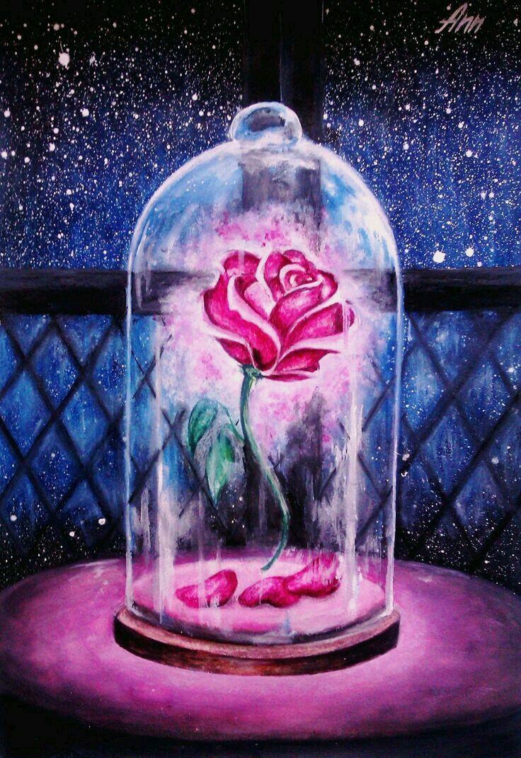 Rosa encantada.   la bella y la bestia   Pinterest   La bestia ...