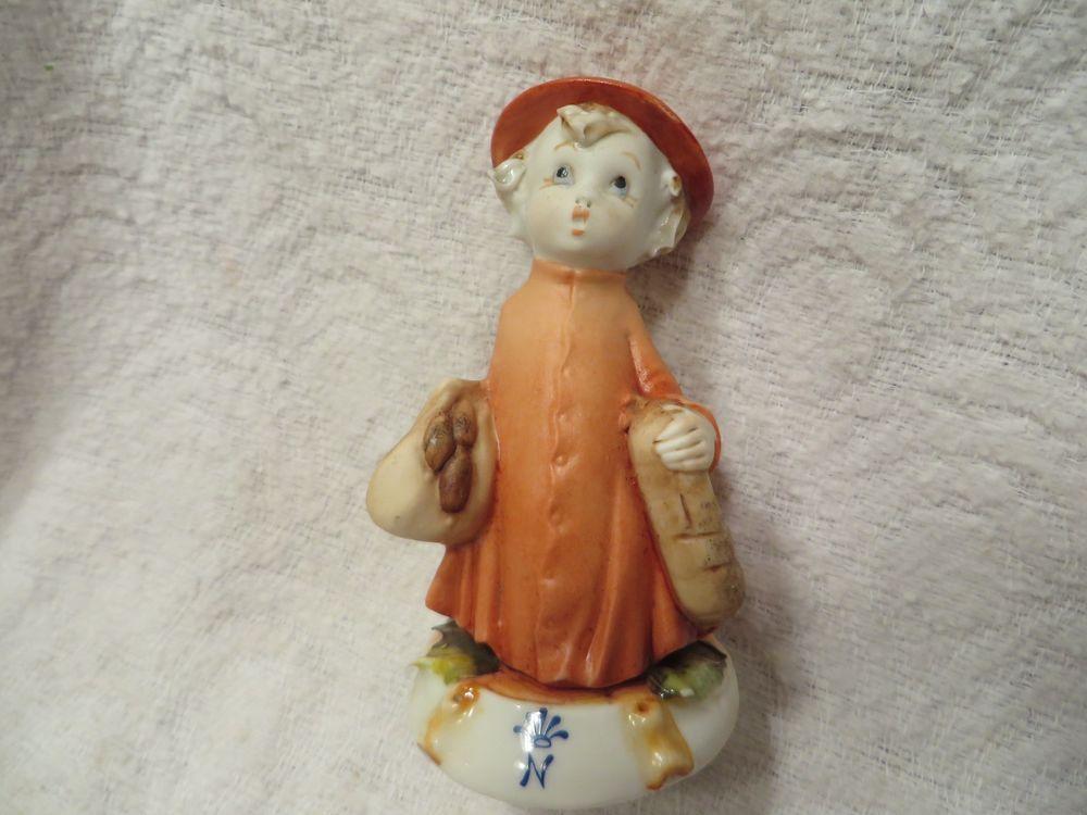 Vintage g pezzato porcellane capodimonte porcelain girl figure
