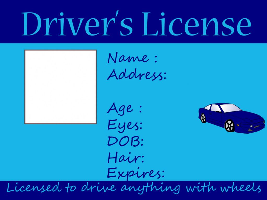 kids driving and fishing license free printable crafts
