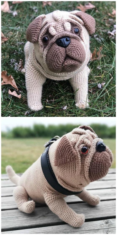 Crochet Pattern For Pug Dog - Best Seller| The WHOot