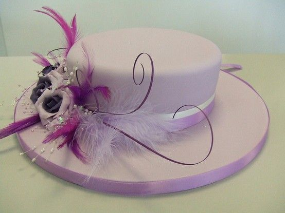 Wondrous Hat Shaped Cake Hat Cake Easter Hat Cake Hat Box Cake Personalised Birthday Cards Sponlily Jamesorg