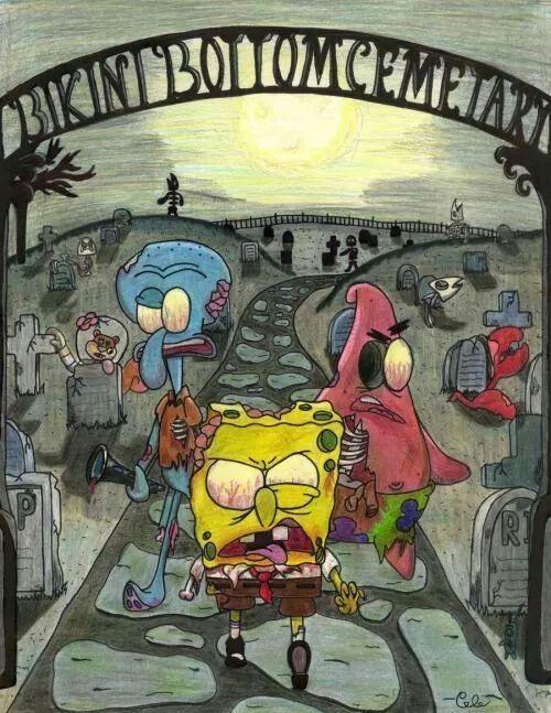 Wallpaper Spongebob Zombie