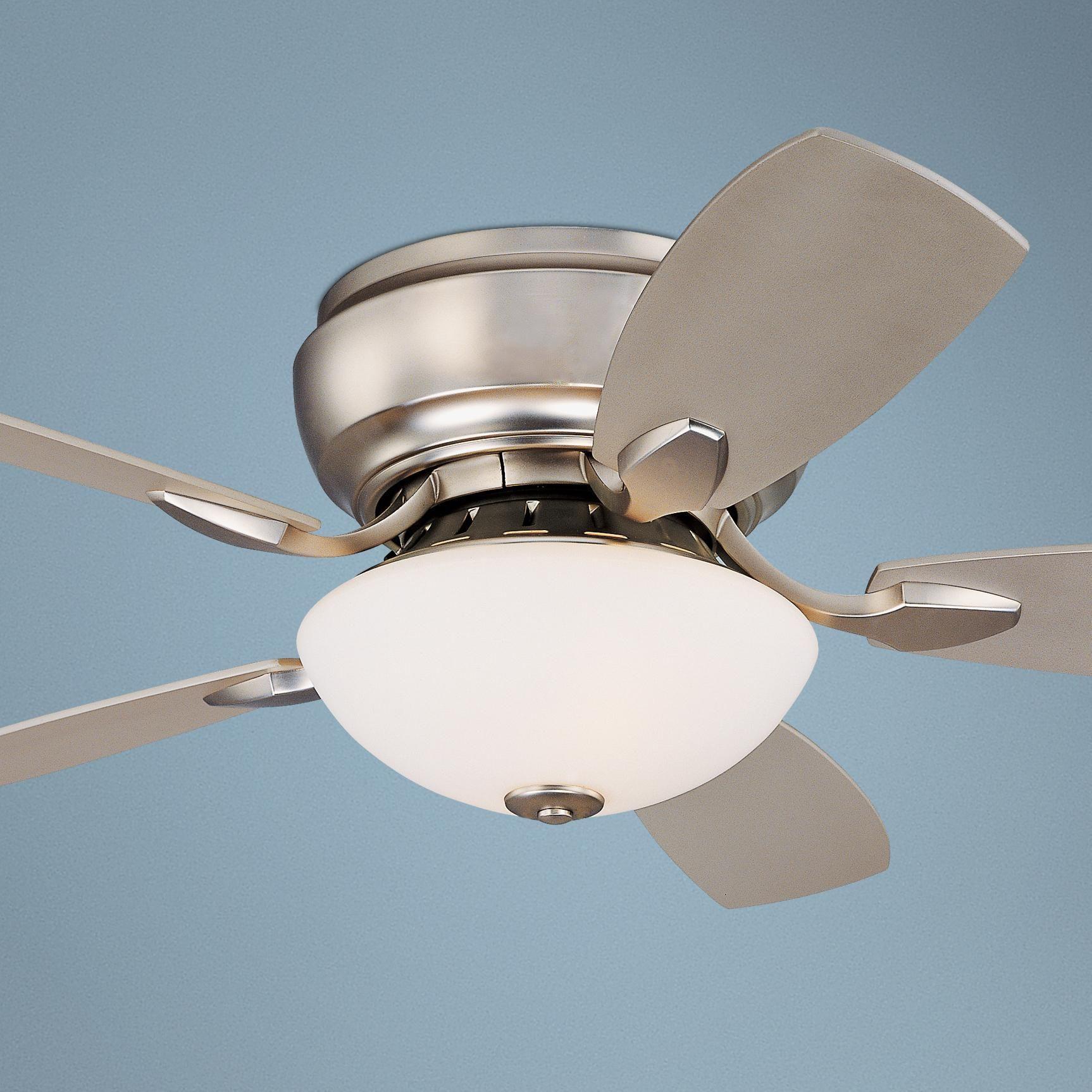 """44"""" Casa Habitat™ Brushed Steel Hugger Ceiling Fan"""