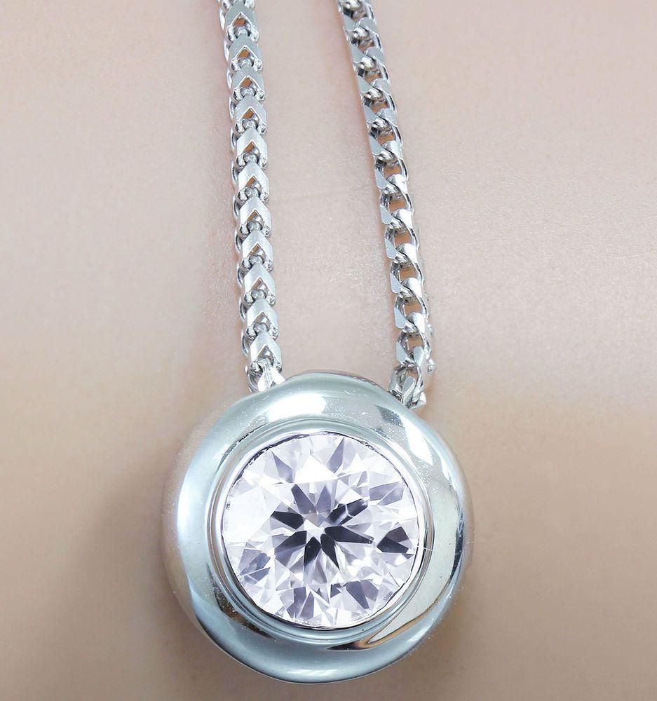 ct moissanite bezel set engagement pendant sterling silver near