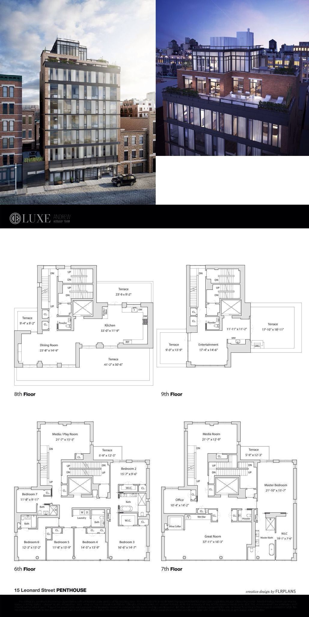 15 Leonard Street F6ph City Living Apartment Hotel Floor House Plans