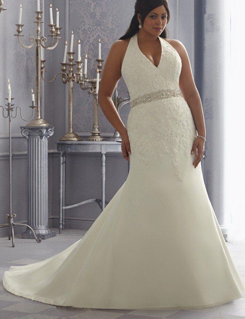 Halter Top Plus Size Wedding Dresses Dacc