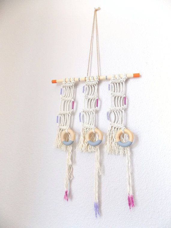 """Macrame Wall Hanging """"Mystery Train"""" by Himo Art"""