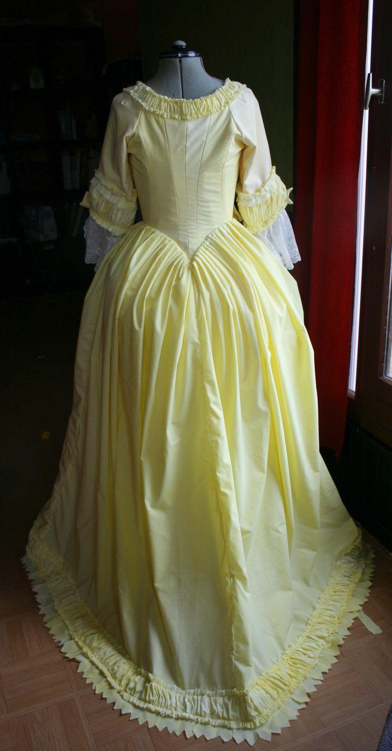 Tuto robe anglaise retrouss e partie xii les plis - Tuto dressing ...