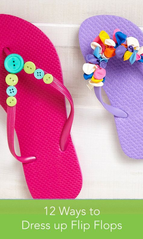 8f916ab72a1735 Embellish your flip-flops for summer with our easy DIY decoration ideas.
