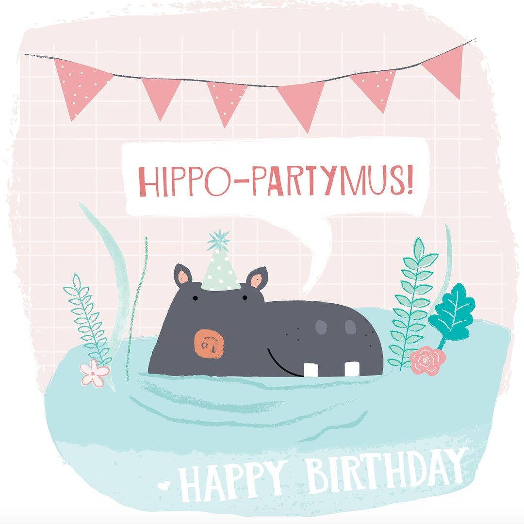 Had so much fun designing this hippo birthday card for my mum the had so much fun designing this hippo birthday card for my mum the cutest hippo ever bookmarktalkfo Image collections