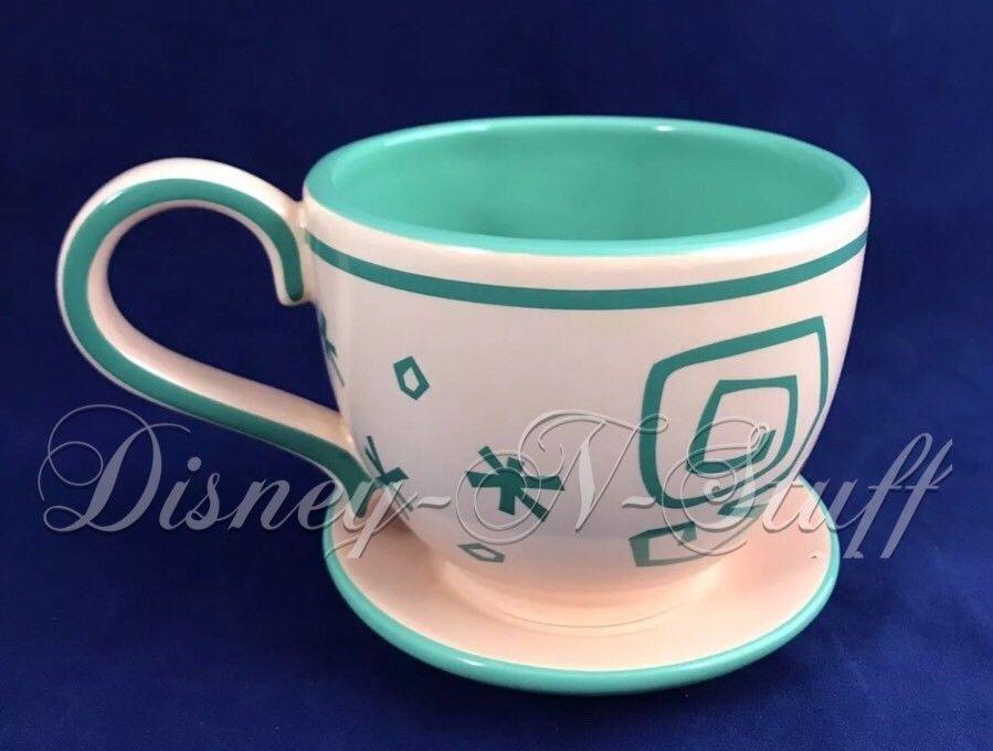 Disney Parks Alice In Wonderland Mad Tea Party Peach Tea Cup Saucer Mug New Collectibles Disneyana Contemporary 1968 Now Peach Tea Orange Mugs Tea Cups