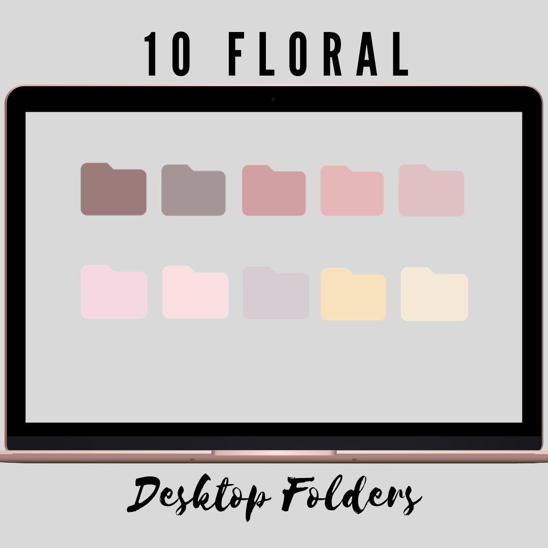 Desktop Icons Desktop Folders Organizer Icons Mac Icons Floral Icons Macbook Icons Computer Icons Floral Folder Icons Color In 2021 Desktop Icons Folder Icon Macbook Icon