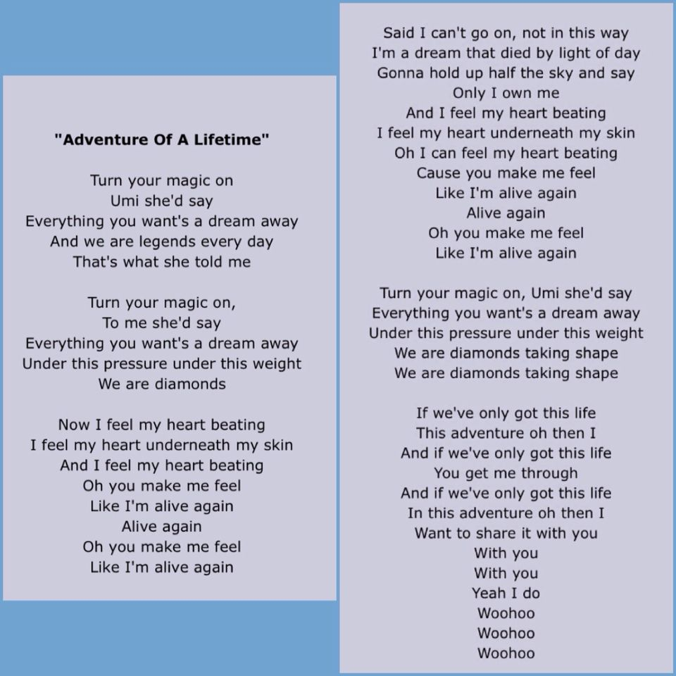 Adventure Of A Lifetime Coldplay Lyrics Con Imagenes Letras