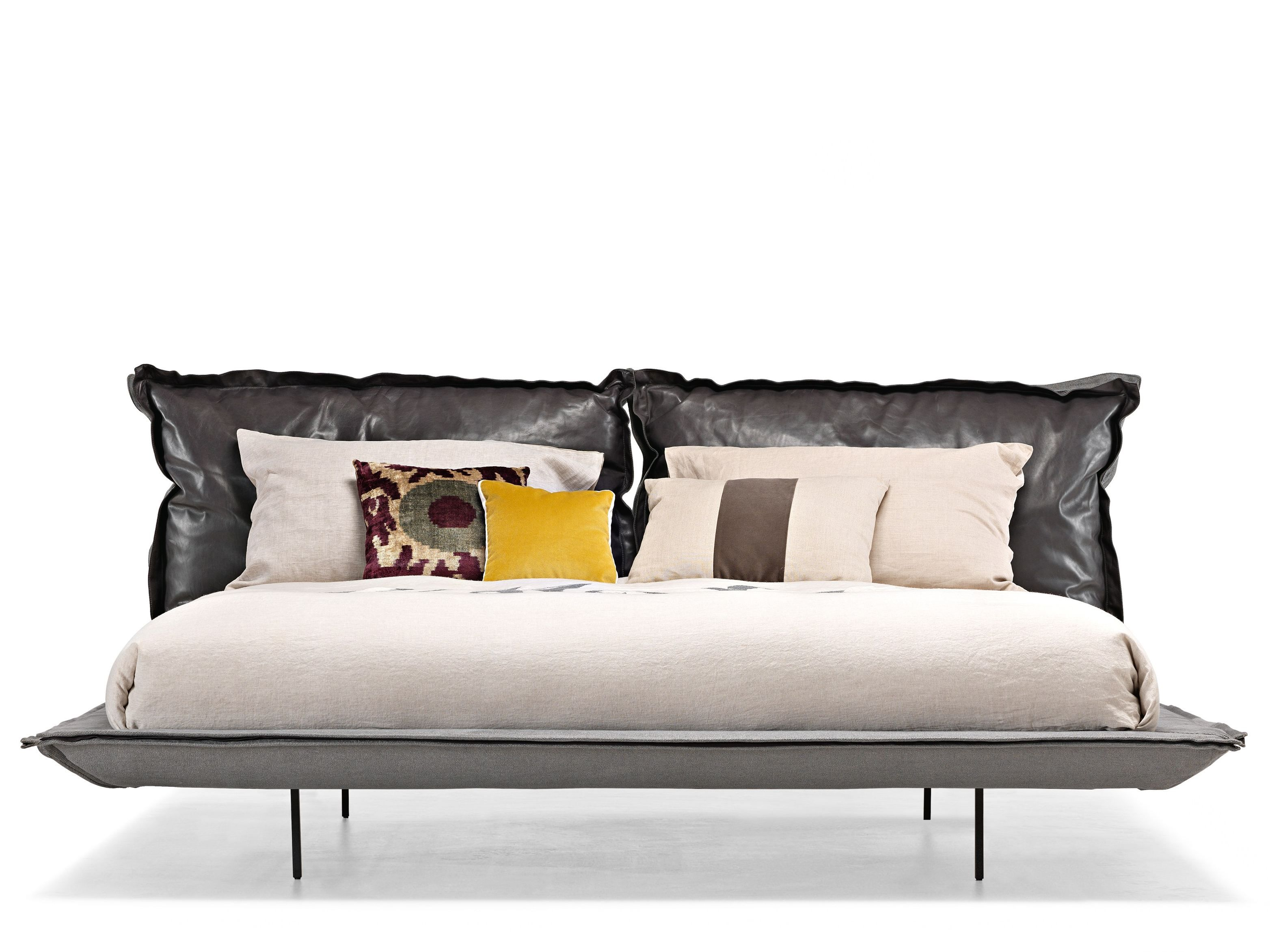 Double bed with upholstered headboard AUTO REVERSE DREAM