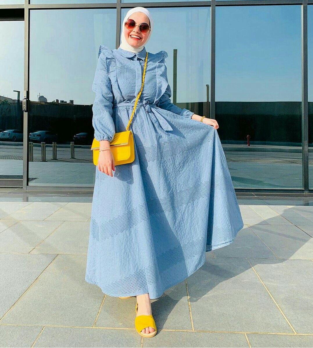 Hijab Fashion Muslim Women Hijab Fashion ملابس محجبات جيبات فساتين لبس كل يوم كاجوال عباية بناتي Fashion Fashion Dresses Style