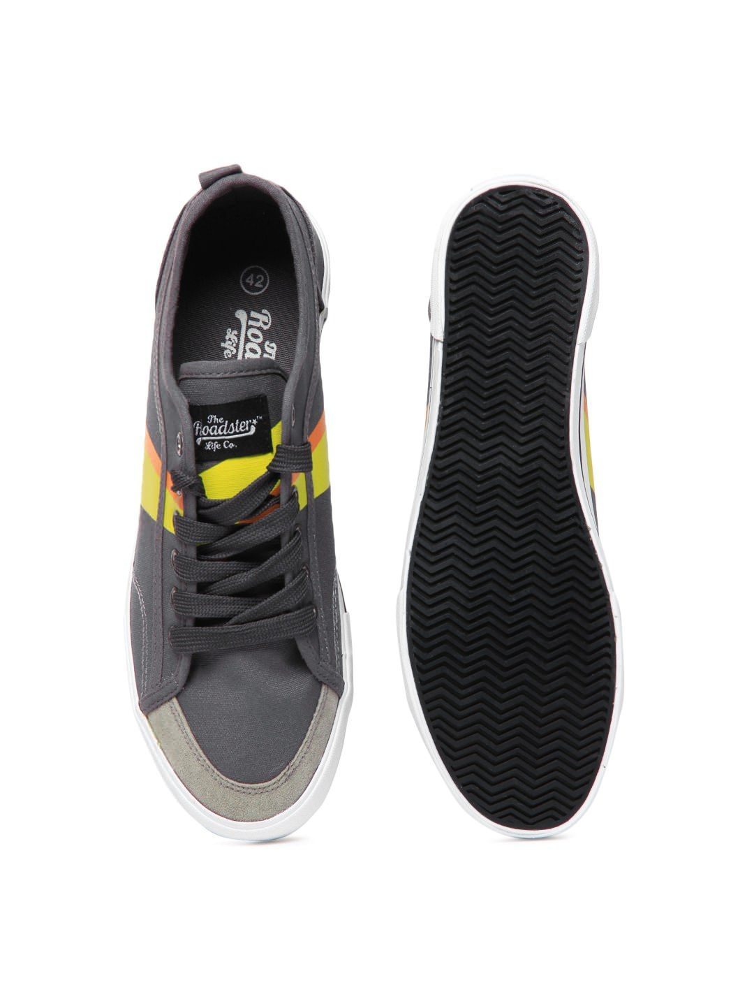 Roadster Men Grey Casual Shoes. Crafted