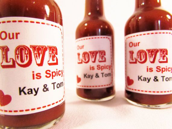 Wedding Take Home Gifts: Our Love Is Spicy Hot Sauce Wedding Favors For Guests To