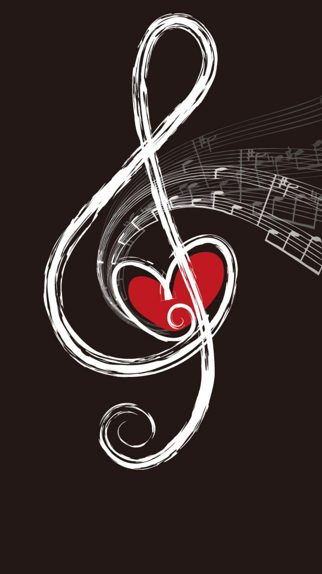 wallpaper 1080x1920 treble clef drawing chalk sony