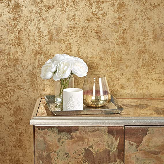 Tempaper Gold Distressed Gold Leaf Designer Removable Peel And Stick Wallpaper Amazon Com Removable Wallpaper Peel And Stick Wallpaper Wallpaper